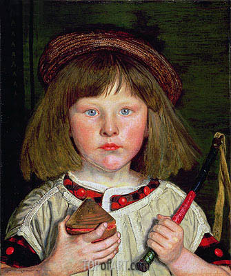 The English Boy, 1860 | Ford Madox Brown| Painting Reproduction