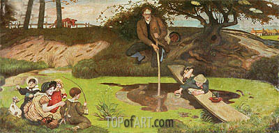 Dalton Collecting Marsh Fire Gas, c.1879/93 | Ford Madox Brown| Painting Reproduction
