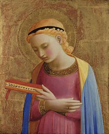 Virgin Annunciate, c.1450/55  by Fra Angelico | Painting Reproduction