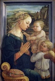 Madonna and Child with Angels, c.1455 von Fra Filippo Lippi | Gemälde-Reproduktion