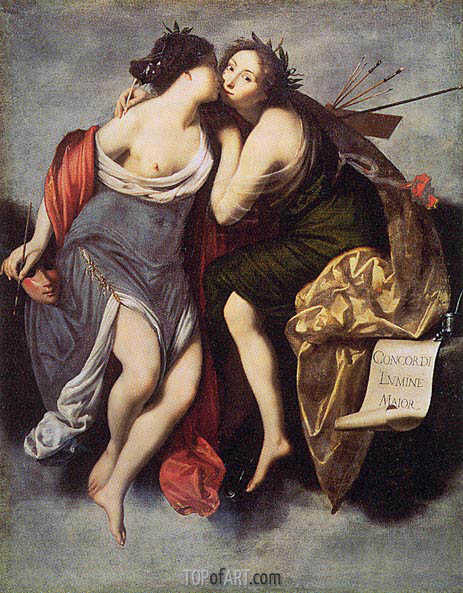 Poetry and Painting, 1626 | Francesco Furini | Painting Reproduction