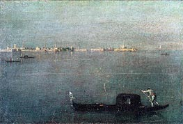 Gondola on the Lagoon, c.1793 von Francesco Guardi | Gemälde-Reproduktion
