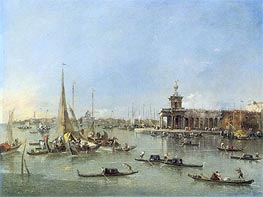 Venice: The Dogana with the Giudecca, c.1760/76 von Francesco Guardi | Gemälde-Reproduktion