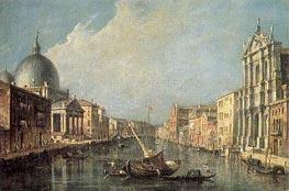 Venice: Canale Grande, c.1777 von Francesco Guardi | Gemälde-Reproduktion