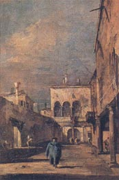 Courtyard in Venice, c.1775/80 von Francesco Guardi | Gemälde-Reproduktion