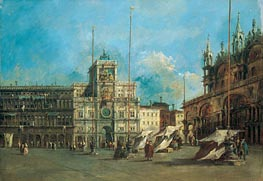 St. Mark's Square in Venice with the Clocktower, c.1770/75 von Francesco Guardi | Gemälde-Reproduktion