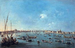 Regatta on the Canale della Guidecca, c.1784/89 von Francesco Guardi | Gemälde-Reproduktion