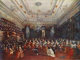 Venetian GalaConcert in the Sala dei Filarmonici, 1782 von Francesco Guardi | Gemälde-Reproduktion