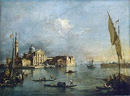 View of the Island of San Giorgio Maggiore, c.1765/75 von Francesco Guardi | Gemälde-Reproduktion