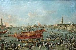 The Bucentaur Departs for the Lido of Venice, on Ascension Day, c.1775/80 by Francesco Guardi | Painting Reproduction