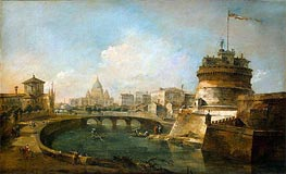 Fanciful View of the Castel Sant'Angelo, Rome, c.1785 by Francesco Guardi | Painting Reproduction
