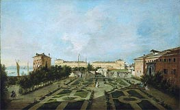 The Garden of the Palazzo Contarini dal Zaffo, c.1780 by Francesco Guardi | Painting Reproduction