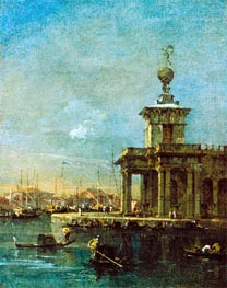 The Dogana, Venice, c.1780/89 by Francesco Guardi | Painting Reproduction