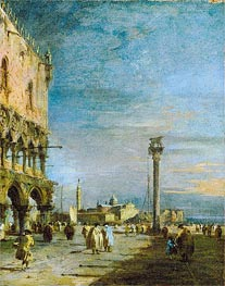 The Piazzetta, Venice, c.1780/89 by Francesco Guardi | Painting Reproduction