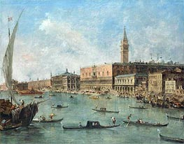 Venice: The Doge's Palace and the Molo, c.1770 by Francesco Guardi | Painting Reproduction