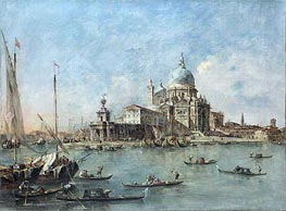 Venice: The Punta della Dogana with St. Maria della Salute, c.1770 by Francesco Guardi | Painting Reproduction