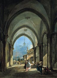 Venetian Capriccio, c.1760/65 by Francesco Guardi | Painting Reproduction