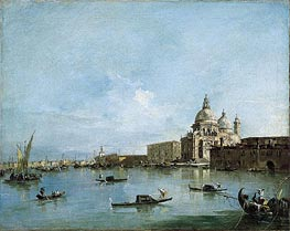 View of the Santa Maria della Salute with the Dogana di Mare, undated by Francesco Guardi | Painting Reproduction
