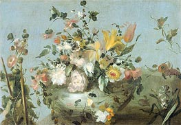Flowers, undated by Francesco Guardi | Painting Reproduction