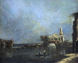 Venice Lagoon, undated by Francesco Guardi | Painting Reproduction