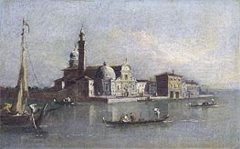 View of San Michele in Venice, undated by Francesco Guardi   Painting Reproduction