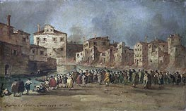 The Fire in the District of San Marcuola, Venice, 28 Novembe by Francesco Guardi | Painting Reproduction