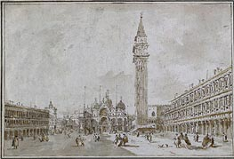Piazza San Marco, Venice, undated by Francesco Guardi | Painting Reproduction