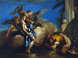 The Angels Appearing to Abraham, 1759 by Francesco Guardi | Painting Reproduction