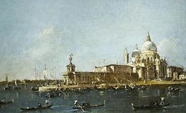 View of Grand Canal with the Dogana, c.1780 by Francesco Guardi   Painting Reproduction