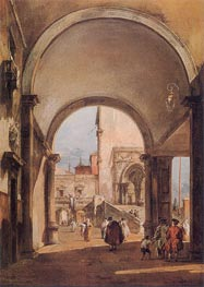 An Architectural Caprice, c.1770/80 by Francesco Guardi | Painting Reproduction