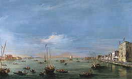 View of the Giudecca Canal and the Zattere, c.1757/58 by Francesco Guardi | Painting Reproduction