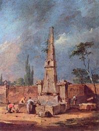 Capriccio, undated by Francesco Guardi | Painting Reproduction