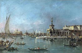 Venice: the Punta della Dogana with the Giudecca and the Redontore Beyond | Francesco Guardi | Gemälde Reproduktion