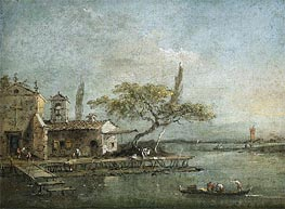 A View of the Island of Anconetta with the Torre di Marghera Beyond | Francesco Guardi | outdated