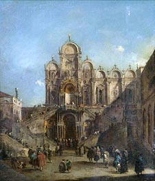 Venice, a View of the Campo San Zanipolo | Francesco Guardi | Painting Reproduction
