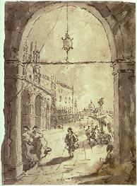Venetian Scene, undated by Francesco Guardi | Painting Reproduction