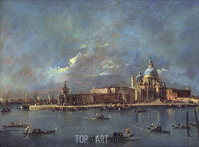 Santa Maria della Salute and The Old Customs House, c.1785 | Francesco Guardi | Gemälde Reproduktion