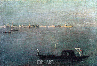 Gondola on the Lagoon, c.1793 | Francesco Guardi| Painting Reproduction