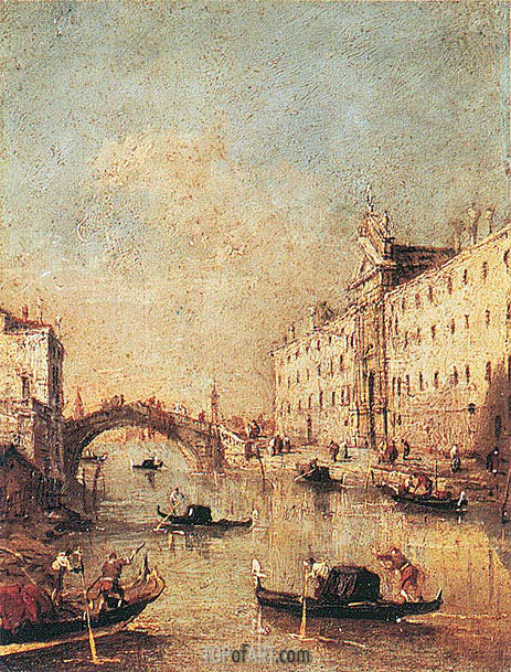 Rio dei Mendicanti, c.1793 | Francesco Guardi | Gemälde Reproduktion