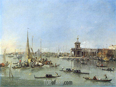 Venice: The Dogana with the Giudecca, c.1760/76 | Francesco Guardi| Gemälde Reproduktion