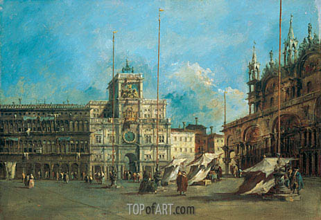 St. Mark's Square in Venice with the Clocktower, c.1770/75 | Francesco Guardi | Painting Reproduction