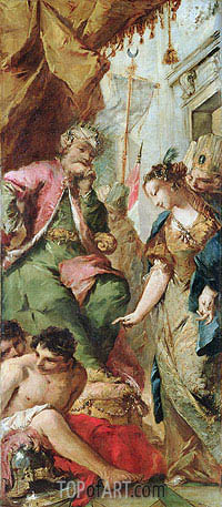 Sophronia Asking the Saracen King Aladine to Release the Christian Prisoners, c.1760 | Francesco Guardi| Painting Reproduction