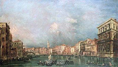 The Grand Canal, Venice, undated | Francesco Guardi| Painting Reproduction
