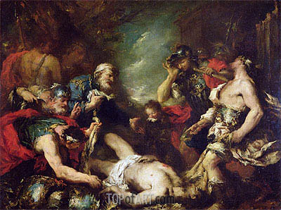 Alexander the Great before the Corpse of Darius III,  | Francesco Guardi| Painting Reproduction
