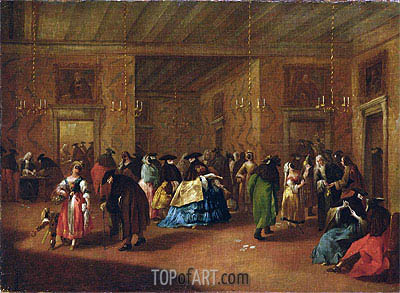 The Foyer,  | Francesco Guardi| Painting Reproduction