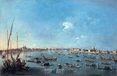 Francesco Guardi | Regatta on the Canale della Guidecca, c.1784/89