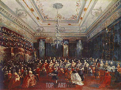 Venetian GalaConcert in the Sala dei Filarmonici, 1782 | Francesco Guardi | Painting Reproduction