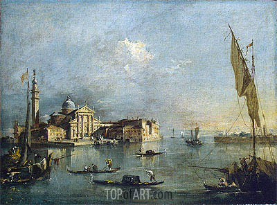 View of the Island of San Giorgio Maggiore, c.1765/75 | Francesco Guardi| Gemälde Reproduktion