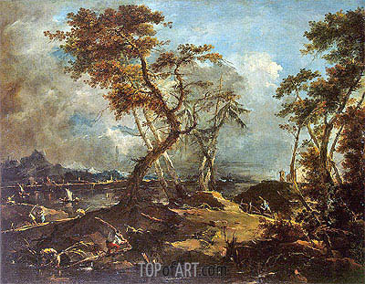 Landscape, c.1780 | Francesco Guardi| Painting Reproduction
