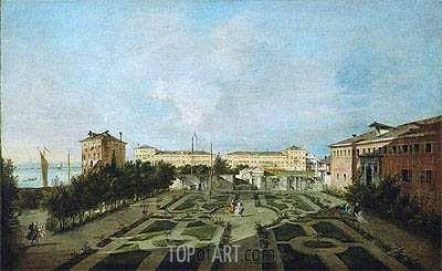 The Garden of the Palazzo Contarini dal Zaffo, c.1780 | Francesco Guardi | Gemälde Reproduktion
